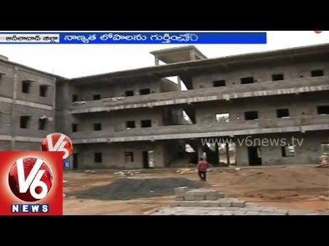 Adilabad government buildings are debased because of contractor