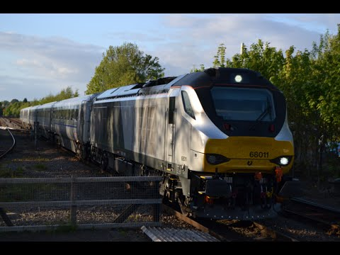 Chiltern Railways 68011 & 82301 pass Stourbridge Junction...