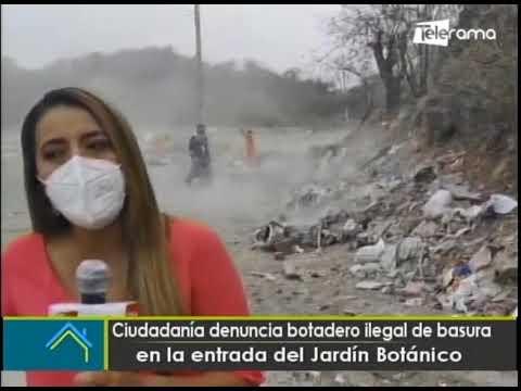 Ciudadanía denuncia botadero ilegal de basura en la entrada del Jardín Botánico