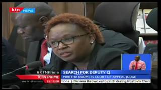 KTN Prime: Court Of Appeal Judge Martha Koome Faces The JSC For Deputy CJ Interview, 29/09/2016