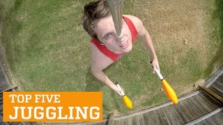 TOP FIVE JUGGLING | PEOPLE ARE AWESOME, clip giai tri, giai tri tong hop