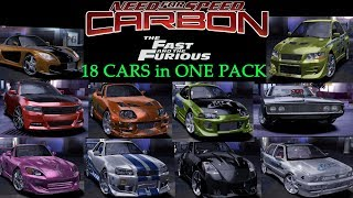 Various Fast And Furious Cars Pack 1.0 NFS Carbon Mod Spotlight U4G