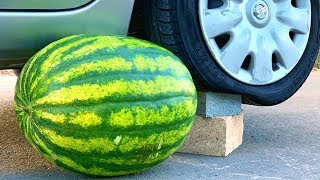 Crushing Crunchy & Soft Things by Car! - EXPERIMENT: WATERMELON VS CAR