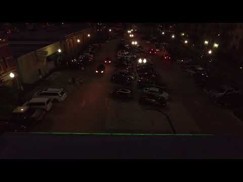 Drone flight over Safety Meeting on McCall Plaza