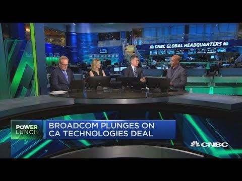 Broadcom's stock plunges on CA Technologies deal