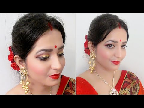 Durga pooja series /Navratri especial/Bengali look/In Hindi/