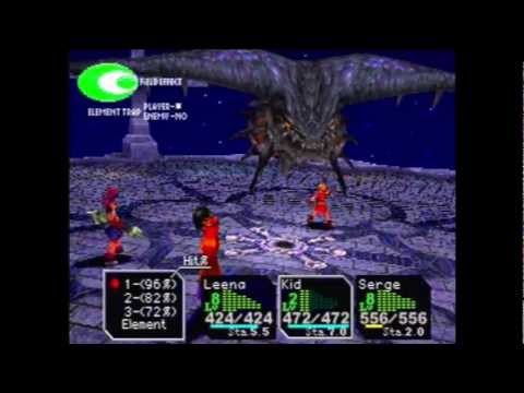 Chrono Cross - 179 - Terra Tower - Boss: TimeDevourer / Dragon God