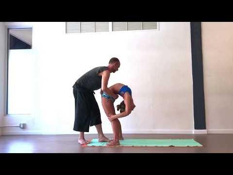 Ashtanga Yoga Backbend and Handstand Assist with Kino and Tim