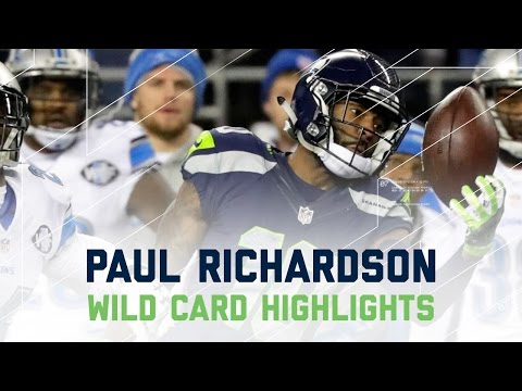 Paul Richardson Makes 3 Amazing Catches in Seahawks Victory! | NFL Wild Card Player Highlights (видео)