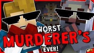 THE WORST MURDERER'S EVER!?   Minecraft Murder Mystery   With NettyPlays