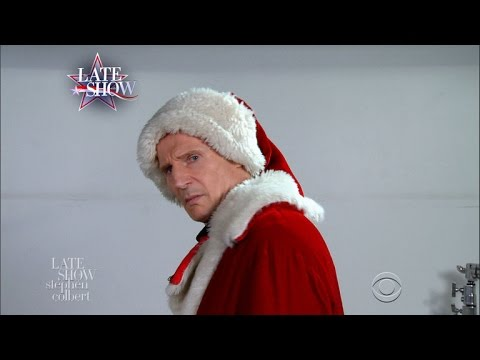 Liam Neeson s Mall Santa Claus Audition