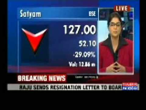 "Breaking News:Ramalinga Raju resigns as Satyam Chairman, admits ""fraud"" in Satyam-Videos-The Times of India"