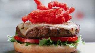 Hardee's Flaming Hot Cheetos Thickburger