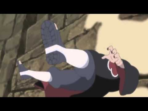 final battle 9-tailed Jinchuuriki vs pain
