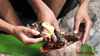 Video Primitive Technology - Eating delicious - Smart boy catch and cooking big fish MP3, 3GP, MP4, WEBM, AVI, FLV Januari 2019