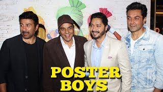 Poster Boys Trailer Launch  Sunny Deol, Bobby Deol, Shreyas Talpade, Dharmendra - UNCUT☞  Check All Bollywood Latest Update on our Channel & Subscribe  - http://bit.ly/SubscribeMoviezAdda ☞  Follow us on Twitter http://goo.gl/Z4wno5☞  Like us on Facebook https://goo.gl/8Kvkhr☞  Circle us on G+ https://plus.google.com/118018009657043521720☞  Follow us on Instagram http://goo.gl/gSysfH