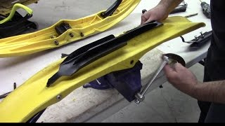 5. SnowTracker carbide install on Ski-Doo Pilot 5.7 skis