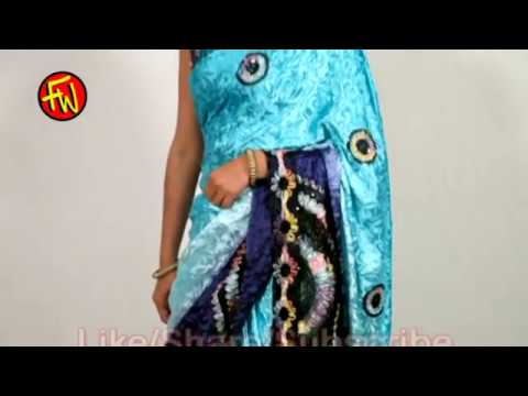 How To Wear A Saree - Blue Printed Sareee