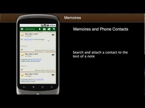 Video of Memoires Contact Note