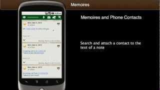 Memoires Contact Note YouTube video