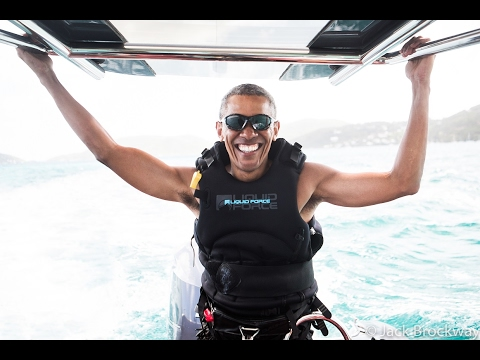 Challenged President Barack Obama to a kitesurf vs foilboard learning contest – here's what happened