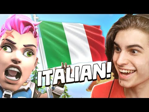 Playing Overwatch in ITALIAN!?
