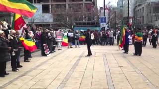 Ethiopian Community  In Vancouver Protests Saudi Arabia