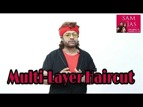 Hair cutting - Multi Layers Hair Cut On Medium Length Tutorial In Hindi
