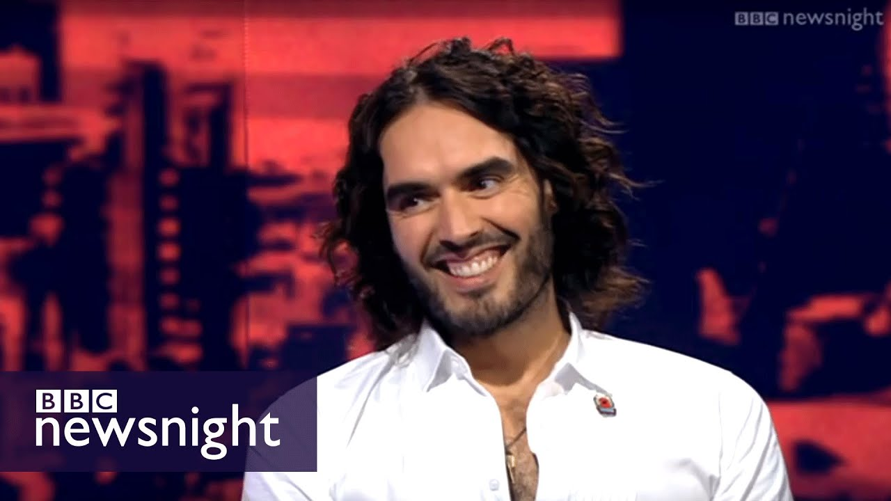 ASK iAN . RUSSELL BRAND INTERVIEWED BY NERVOUS TWIT MEDIA CORPSE FROM 1955