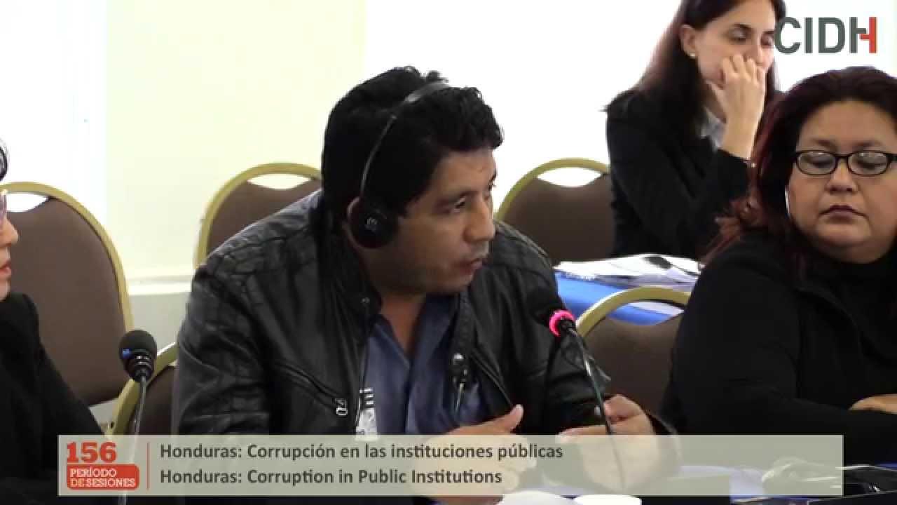 Denuncias sobre corrupci�n en las instituciones p�blicas en Honduras