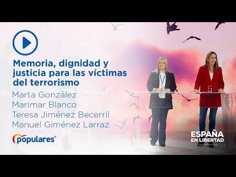 Memoria, dignidad y justicia para las víctimas del terrorismo