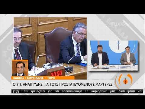 Ο Υπουργός Ανάπτυξης για τους προστατευόμενους μάρτυρες | 20/02/2020 | ΕΡΤ