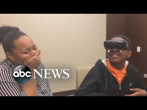 Legally Blind Kid Sees His Mother For The First Time