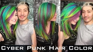 Cyber Punk Hair Color - YouTube