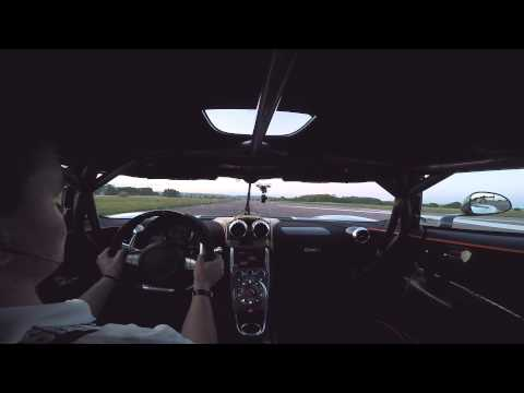 Koenigsegg One:1 0-300-0kmh run. The stability, noise and power of this 1340hp megacar is breathtaking.