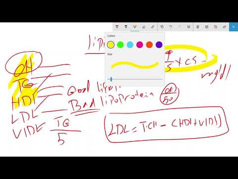 lipid profile calculation
