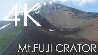 富士山 宝永火口の4K空撮映像