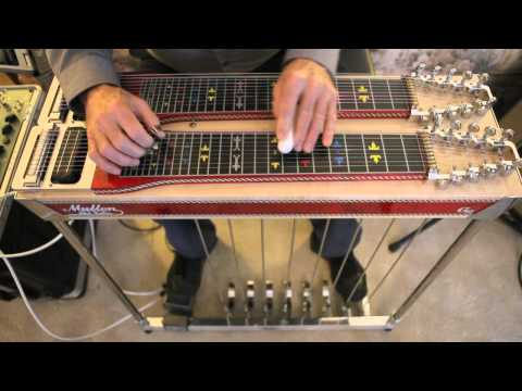 Mullen Pedal Steel Guitar and Hilton Volume Pedal Demo by Gary Sill