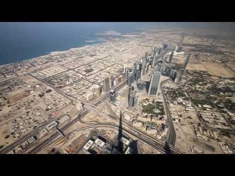 Na szczycie Burj Dubai