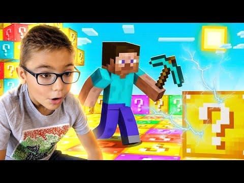 J'OUVRE DES LUCKY BLOCK ÉLECTRIQUES ! (Minecraft Nintendo Switch Edition)