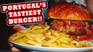 Super Guilty Stuffed Burger Challenge!! (Portugal's BIGGEST)