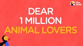 Dear 1 Million Animal Lovers: Thank You From The Dodo by The Dodo