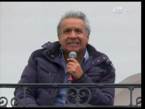 El presidente Lenín Moreno retornó al palacio de Carondelet