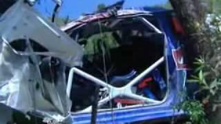 Latvala big crash Portugal 09 wrc