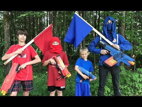 Nerf Capture the flag: Rival (red vs blue)