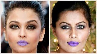 Aishwarya Rai Bachan Inspired Cannes 2016 Look   Lavender Purple Lips   Makeup Tutorial   Kavya K