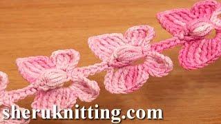 Video Crochet Butterfly Cord Tutorial 52 Crochet Butterflies MP3, 3GP, MP4, WEBM, AVI, FLV Juli 2018