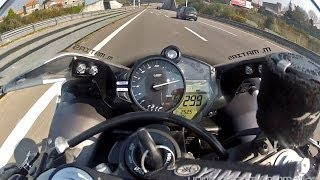 10. YAMAHA YZF-R1 Crossplane - Highway FULL THROTTLE [1080p]
