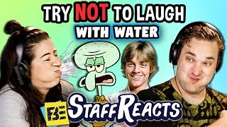 SUBMIT A VIDEO TO TRY TO GET THE REACTORS TO LAUGH: laughchallenge@finebrosent.comPlease watch and subscribe to the creators featured in this episode: https://goo.gl/2FQDMJSUBSCRIBE THEN HIT THE 🔔! New Videos 12pm PST on REACT! https://goo.gl/7SnCnC Watch all FBE Staff Reacts! https://goo.gl/s3wXpy  Watch latest FBE videos: https://goo.gl/aU5PSm FBE Staff try not to smile or laugh! See their reaction in this Laugh Challenge!Videos featured in this episode: Rapping Toast Dogshttps://vine.co/v/5hLPM2QPYKXSquidward on a Chairhttps://goo.gl/U9o98sDrunk Democracy Manifest:https://goo.gl/sEStcNLaugh Trackhttps://goo.gl/EYf9ZXCone Shaped Metal Hathttps://goo.gl/KBCz29Farting Jedihttps://goo.gl/88kaYCFBE's goal is to credit the original links to the content featured in its shows. If you see incorrect or missing attribution please reach out to credits at finebrosent.comThis episode features the following Reactors:Andrea B.Brynnhttps://www.instagram.com/brynnshuller/Cynthiahttps://www.instagram.com/nirne/Davidhttps://www.instagram.com/dvalbs/DerekDevhttps://www.instagram.com/ibeingdvb/Jameshttps://www.instagram.com/jamesroderique/Joshhttp://www.instagram.com/jfumikiKelseyhttps://www.instagram.com/kelren5/Kenirahttps://www.instagram.com/km.byg/Marchttps://www.instagram.com/yourfriendmarcus/Meghanhttps://www.instagram.com/skeletonwomanmusic/Follow Fine Brothers Entertainment:FBE WEBSITE: http://www.finebrosent.comFBE CHANNEL: http://www.youtube.com/FBEREACT CHANNEL: http://www.youtube.com/REACTBONUS CHANNEL: https://www.youtube.com/FBE2FACEBOOK: http://www.facebook.com/FineBrosTWITTER: http://www.twitter.com/thefinebrosINSTAGRAM: http://www.instagram.com/fbeSNAPCHAT: https://www.snapchat.com/add/finebrosTUMBLR: http://fbeofficial.tumblr.com/SOUNDCLOUD: https://soundcloud.com/fbepodcastiTUNES (Podcast): https://goo.gl/DSdGFTMUSICAL.LY: @fbeLIVE.LY: @fbeSEND US STUFF:FBEP.O. BOX 4324Valley Village, CA 91617-4324Executive Produced by Benny Fine & Rafi FineHead of Post Production - Nick BergtholdDirector of Production - Drew RoderProduced by Vincent IeraciAssociate Producer -  Zach CieszynskiProduction Coordinator - Cynthia GarciaAssistant Production Coordinator - James RoderiqueStudio Technician - Josh HiltonProduction Assistant - Kristy Kiefer & Kenira Moore & Locke Alexander& Josecarlos ChavezEditor - Andrea WinslowAssistant Editor - Nicole WorthingtonPost Supervisor - Adam SpeasPost Coordinator - David ValbuenaSet Design - Melissa JudsonGraphics & Animation - Will HylerTheme Music - Cyrus Ghahremani© Fine Brothers Entertainment.Staff Reacts #57 - Try to Watch This Without Laughing or Grinning WITH WATER!!! #4 (ft. FBE STAFF)