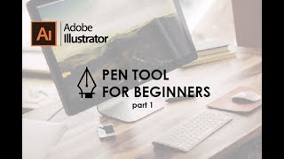 A beginner tutorial for anyone who is just starting to use the pen tool.  There will be 3 parts for the Pen Tool beginner guide.
